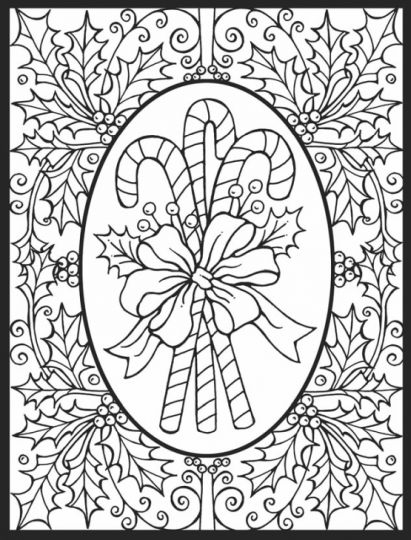 Christmas Doodle Coloring Pages 27