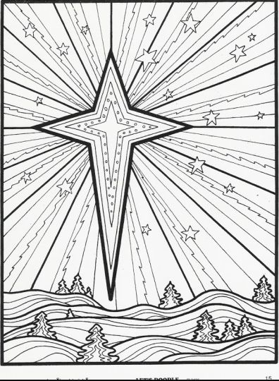 Christmas Doodle Coloring Pages 28