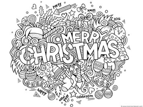 Christmas Doodle Coloring Pages 29