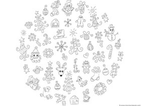 Christmas Doodle Coloring Pages 30