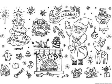 Christmas Doodle Coloring Pages 31