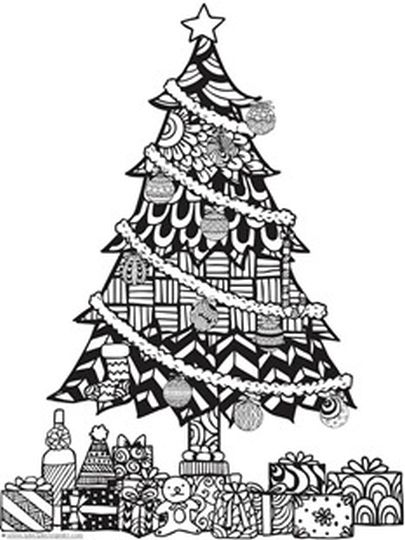 Christmas Doodle Coloring Pages 32