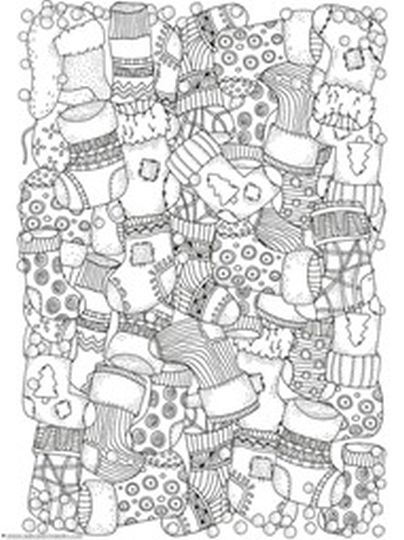 Christmas Doodle Coloring Pages 33