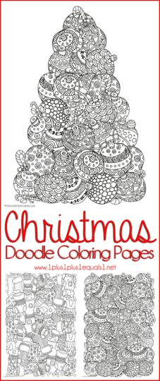 Christmas Doodle Coloring Pages 35