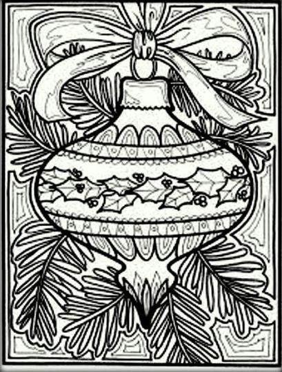 Christmas Doodle Coloring Pages 36