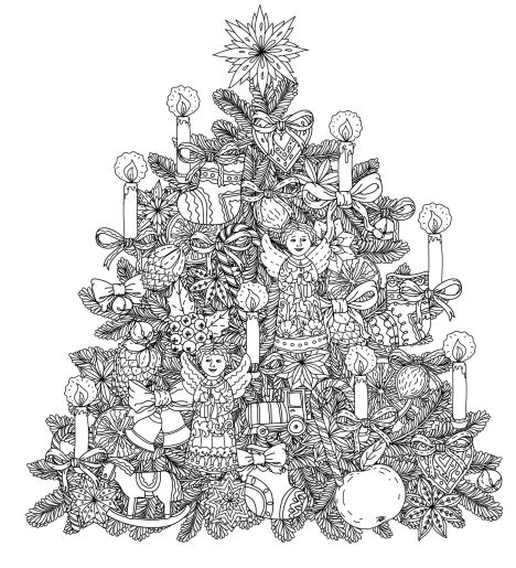 Christmas Doodle Coloring Pages 39