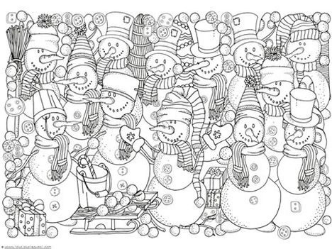 Christmas Doodle Coloring Pages 4