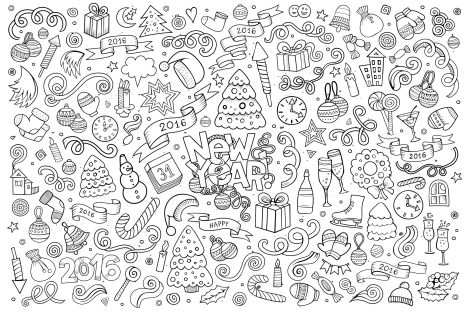 Christmas Doodle Coloring Pages 40