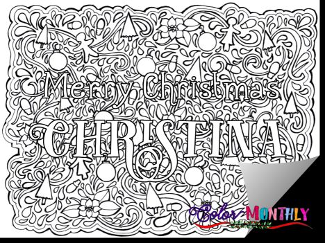 Christmas Doodle Coloring Pages 42