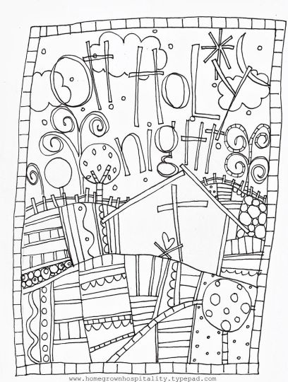 Christmas Doodle Coloring Pages 43