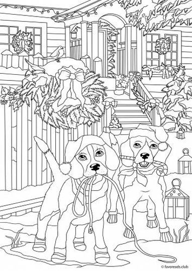 Christmas Doodle Coloring Pages 50