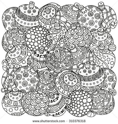Christmas Doodle Coloring Pages 6