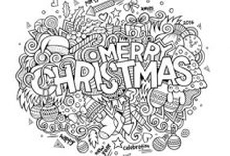 Christmas Doodle Coloring Pages 7