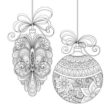 Christmas Doodle Coloring Pages 9