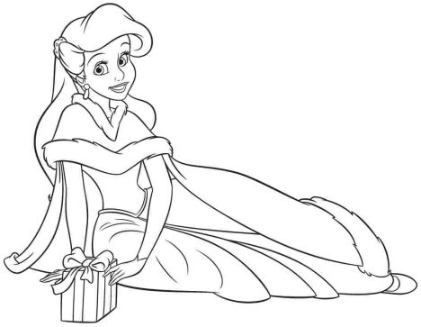 Disney Princess Christmas Coloring Pages 10