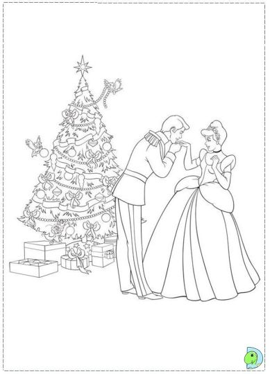 christmas coloring pages princess-#27