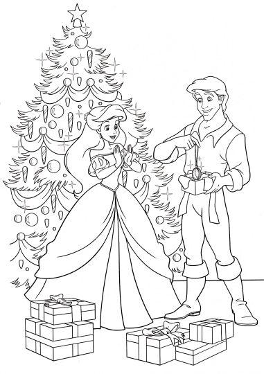 Disney Princess Christmas Coloring Pages 12