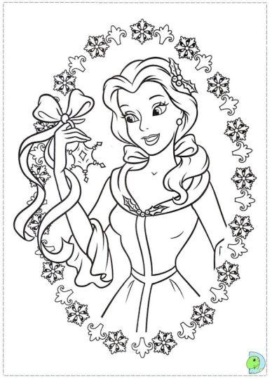 Disney Princess Christmas Coloring Pages 16