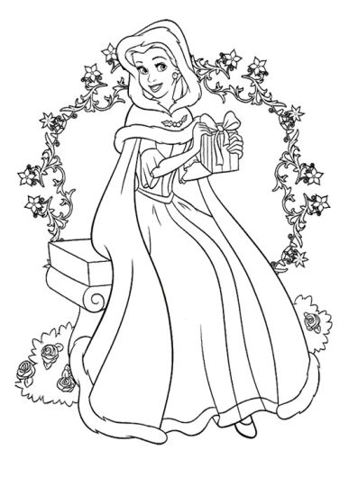 Disney Princess Christmas Coloring Pages 17