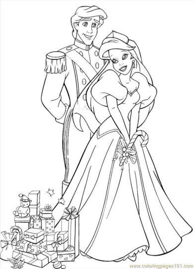Disney Princess Christmas Coloring Pages 18
