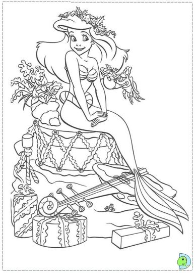 Disney Princess Christmas Coloring Pages Part 3