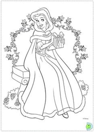 100 ideas Christmas Coloring Pages Disney Princess on