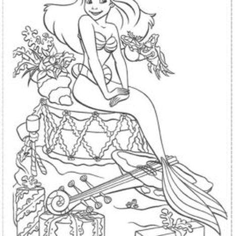 Disney Princess Christmas Coloring Pages 26