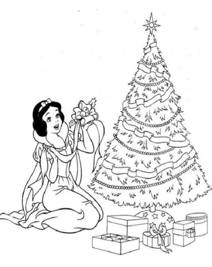 Disney Princess Christmas Coloring Pages 27