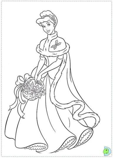 Disney Princess Christmas Coloring Pages 29