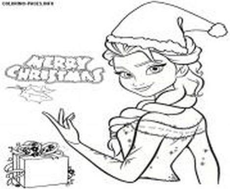 Disney Princess Christmas Coloring Pages 32