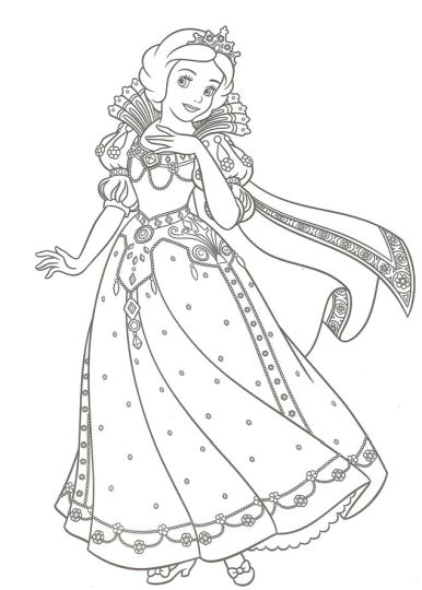 Disney Princess Christmas Coloring Pages 33