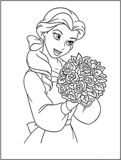 Disney Princess Christmas Coloring Pages 35