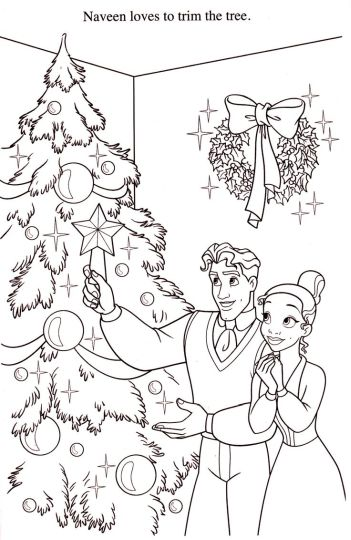 Disney Princess Christmas Coloring Pages 37