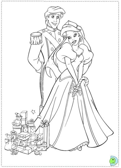 Disney Princess Christmas Coloring Pages 39