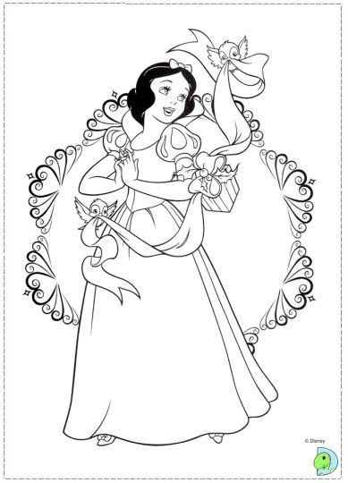 Disney Princess Christmas Coloring Pages 40
