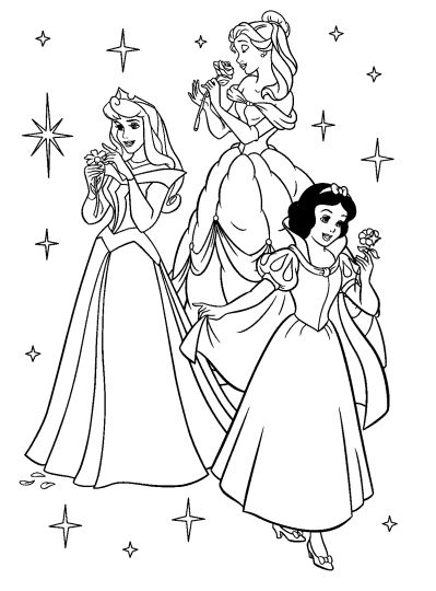 Disney Princess Christmas Coloring Pages 42