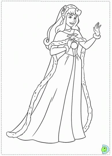 Disney Princess Christmas Coloring Pages 44