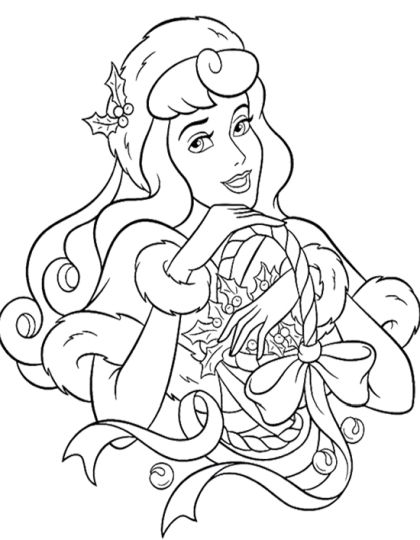 Disney Princess Christmas Coloring Pages 51