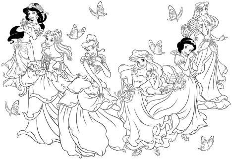 Disney Princess Christmas Coloring Pages 53