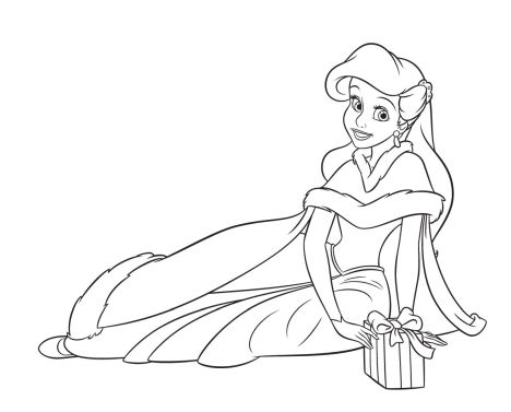 Disney Princess Christmas Coloring Pages 55