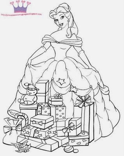 disney princess christmas coloring pages 57