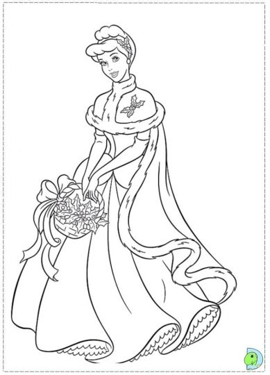 Disney Princess Christmas Coloring Pages 58