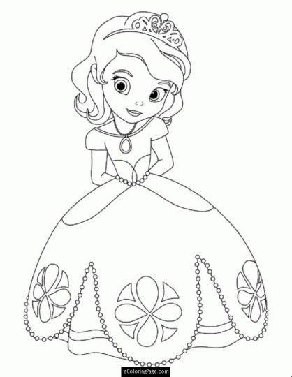 Disney Princess Christmas Coloring Pages 6