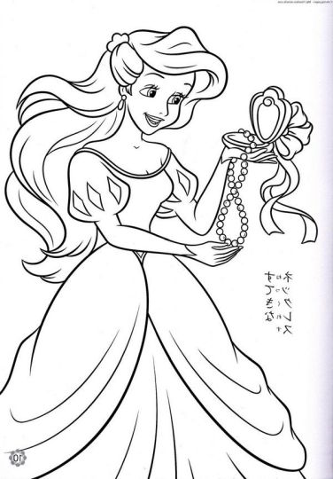 Disney Princess Christmas Coloring Pages 63