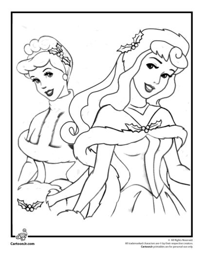 Disney Princess Christmas Coloring Pages 66