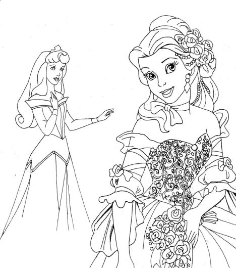 Disney Princess Christmas Coloring Pages 67