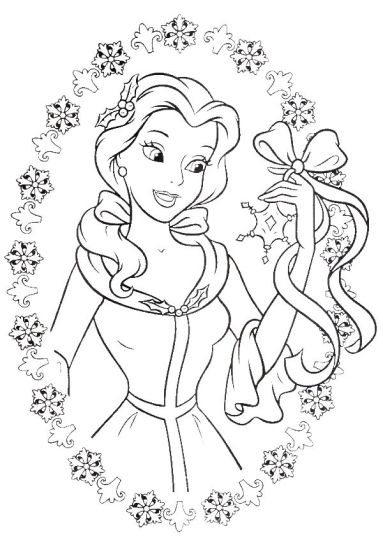 Disney Princess Christmas Coloring Pages 68