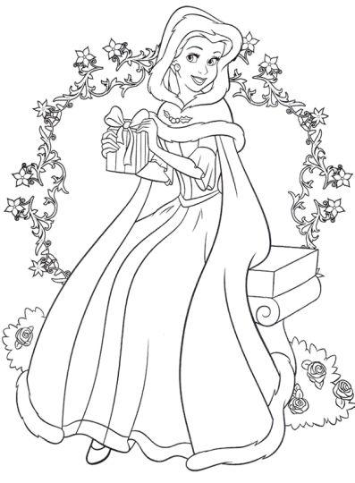 Disney Princess Christmas Coloring Pages 7