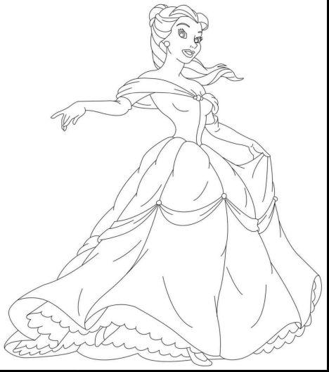 Disney Princess Christmas Coloring Pages 9