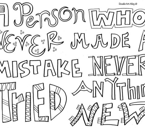 Doodle Coloring Pages Quotes 10